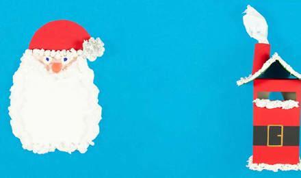 Scrisoare originală către Moș Crăciun în forma bărbii lui și  o cutie poștală roșie