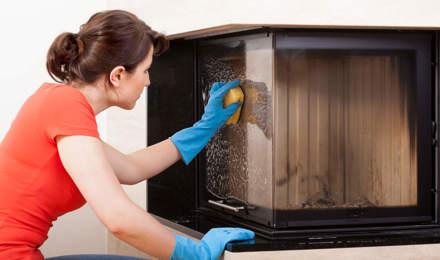 how to clean wood burner glass