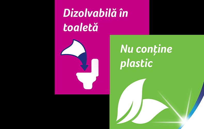 Hârtie igienică umedă concepută pentru a respecta mediul înconjurător