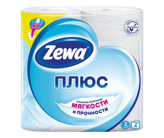 Zewa Plus LYS White 4 rolls