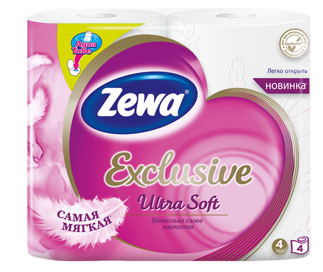 Zewa Exclusive Ultra Soft 4 rolls toilet paper