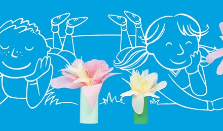 κατασκευη χαρτινων λουλουδιων