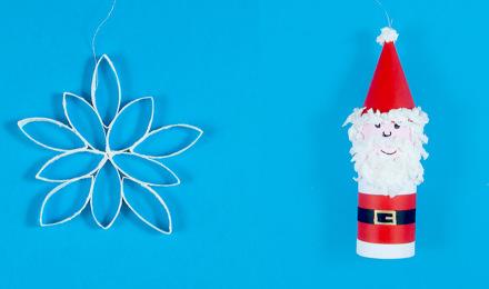 Gyors és egyszerű karácsonyi díszek házilag, gyerekekkel