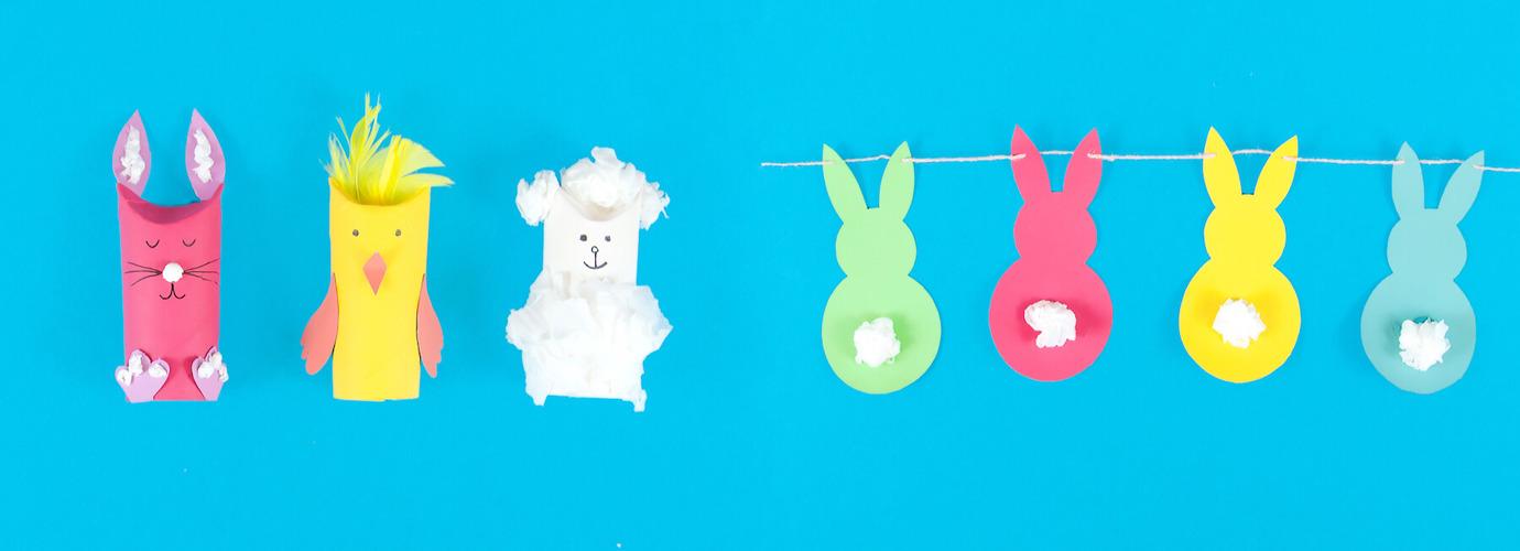 2 egyszerű húsvéti dekoráció papírból
