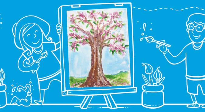 Jednoduché nápady na plastickou malbu pro děti všech věkových kategorií