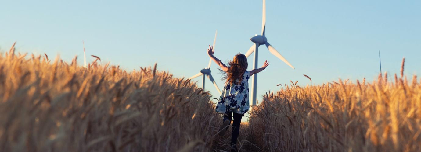A szénlábnyom csökkentése: megújuló energiát termelő szélfarm