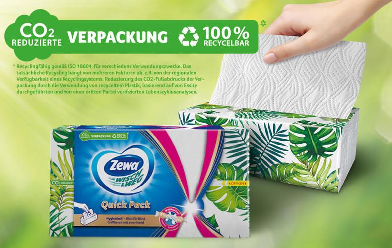 CO2-reduzierte, recycelbare Verpackung