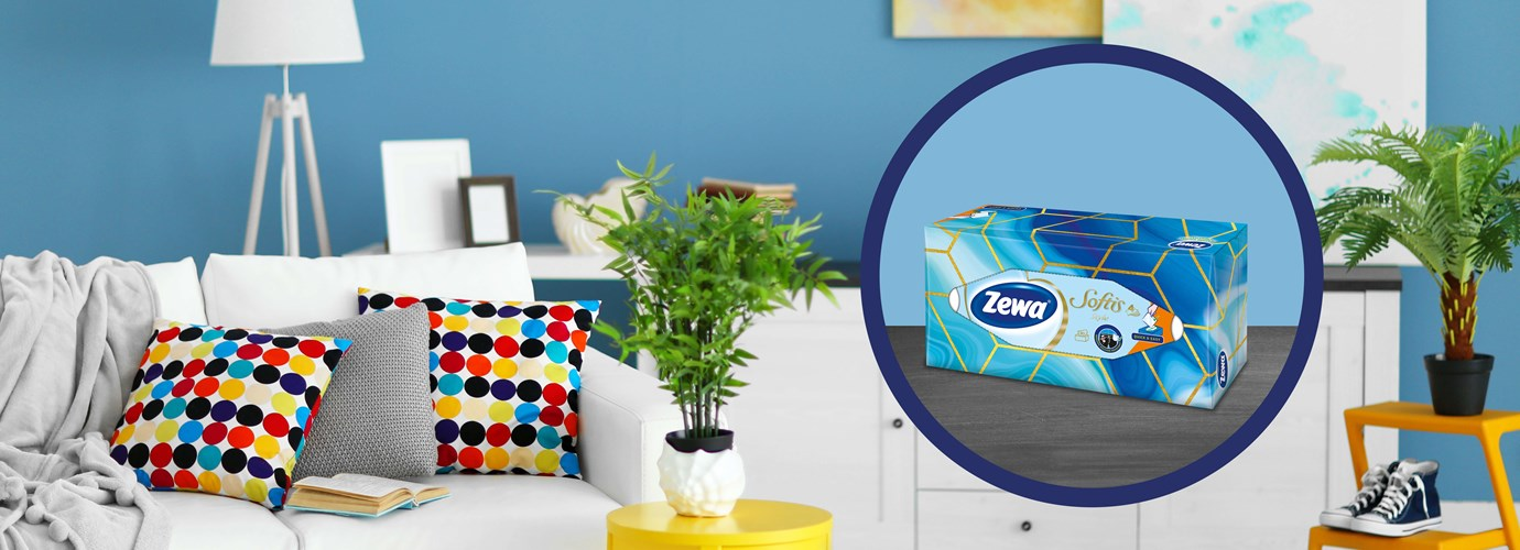 Nyerj egy évre elegendő Zewa dobozos papír zsebkendőt!