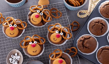Rentier-Muffins: Ein einfaches und leckeres Rezept für die Weihnachtszeit