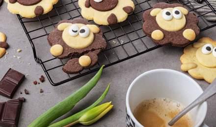 Schäfchen-Kekse: ein einfaches leckeres Rezept für die ganze Familie