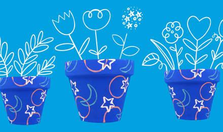 Blumentöpfe bemalen: So geht's