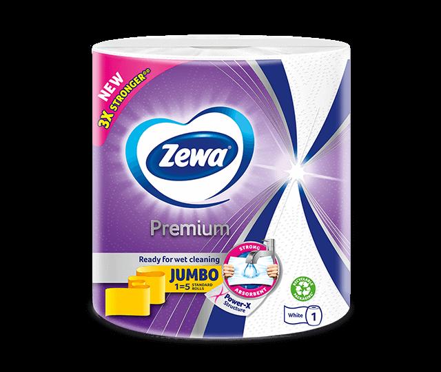 Noile role de bucătărie Zewa Premium cu structură Power-X