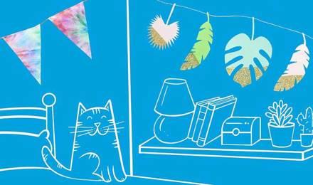 2 ideje za dekoraciju: dekoracije od papira.
