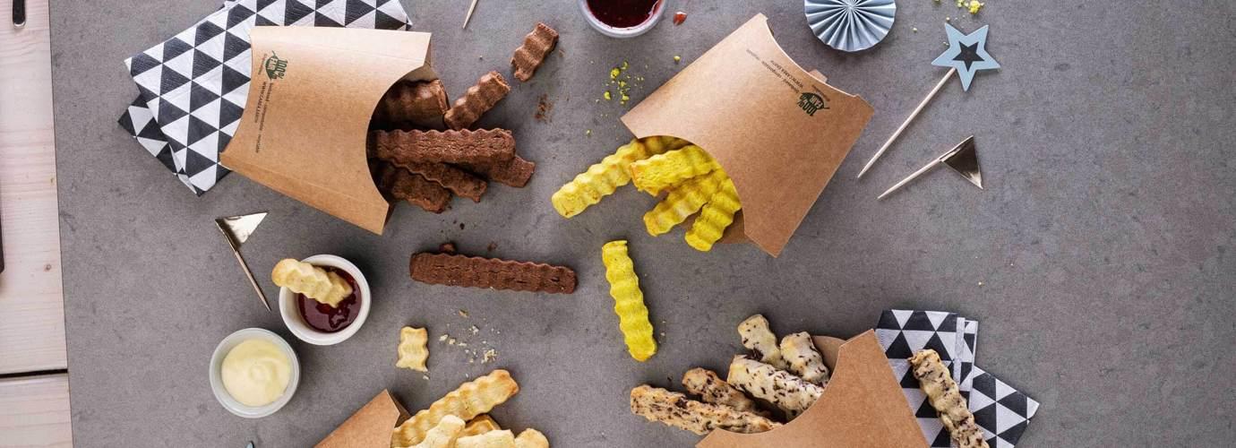 Keks-Rezept für den nächsten Kindergeburtstag: Cookie-Fries, Kekse die aussehen wie Pommes