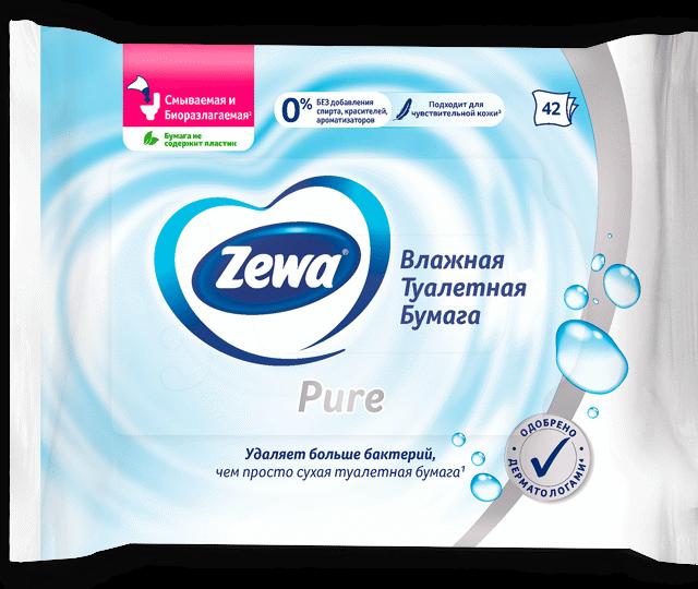 Влажная туалетная бумага Zewa
