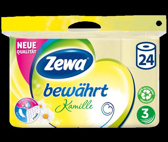 Zewa bewährt Toilettenpapier: JETZT extra saugfähig