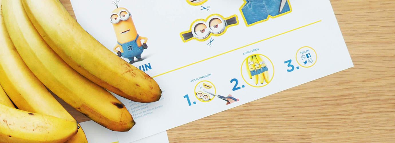 Banane im Minion-Look