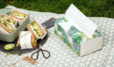 Vegetarische Sandwiches mit Avocado und Frischkäse - im Freien oder beim Picknick genießen!