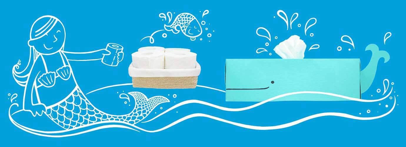 2 meglepően eredeti ötlet toalettpapír tárolására