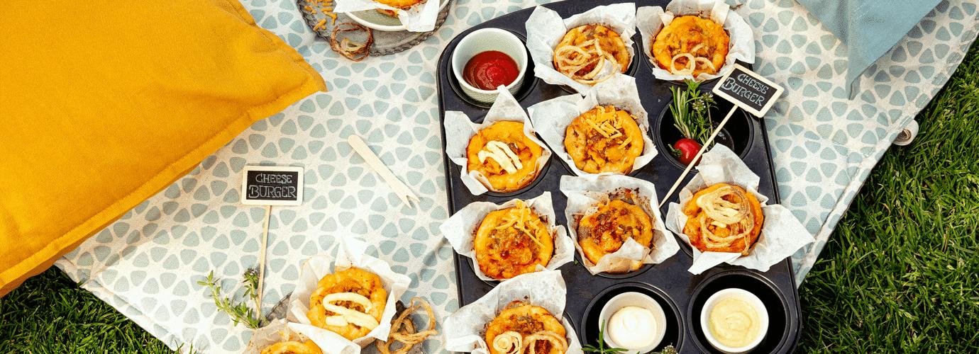 Cheeseburger Muffins - genau das Richtige fürs Picknick im Freien