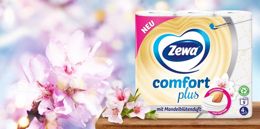 Zewa comfort plus mit Mandelblütenduft