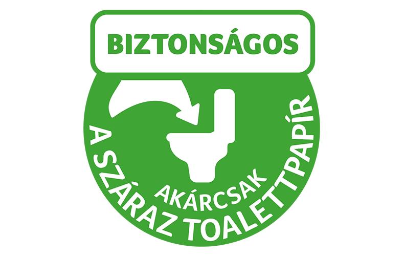 Nedves toalettpapír, amely ugyanolyan biztonságosan lehúzható, mint a száraz