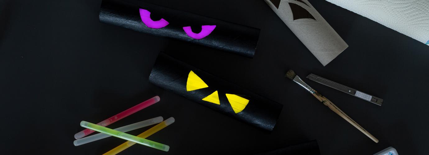 Halloween-DIY Leuchtende Augen