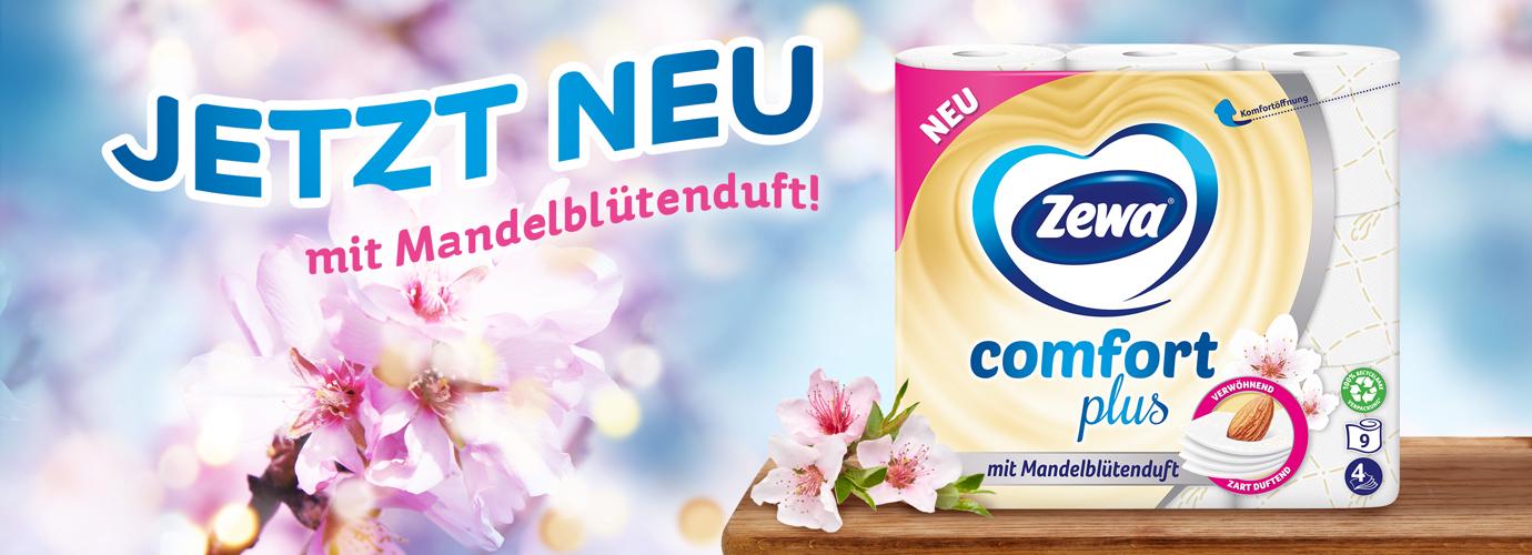 Zewa comfort plus mit Mandelblütenduft: