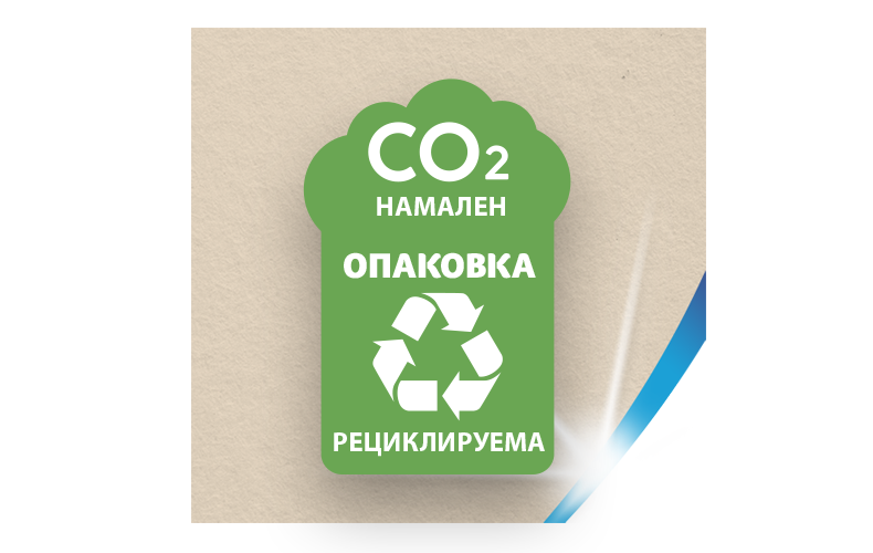 Редуцирани нива на CO₂ и рециклируеми опаковки