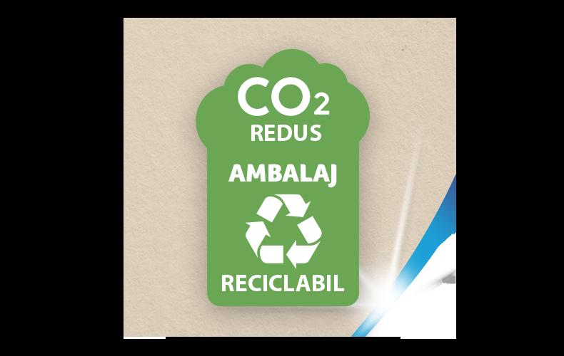 Ambalaj reciclabil și cu amprentă de CO₂ redusă