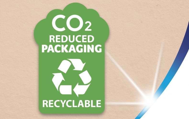 Μειωμένες εκπομπές CO2 και ανακυκλώσιμη συσκευασία